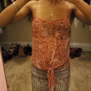 Wet seal tribal patterned top